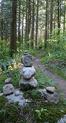 mission inukshuk trail marker